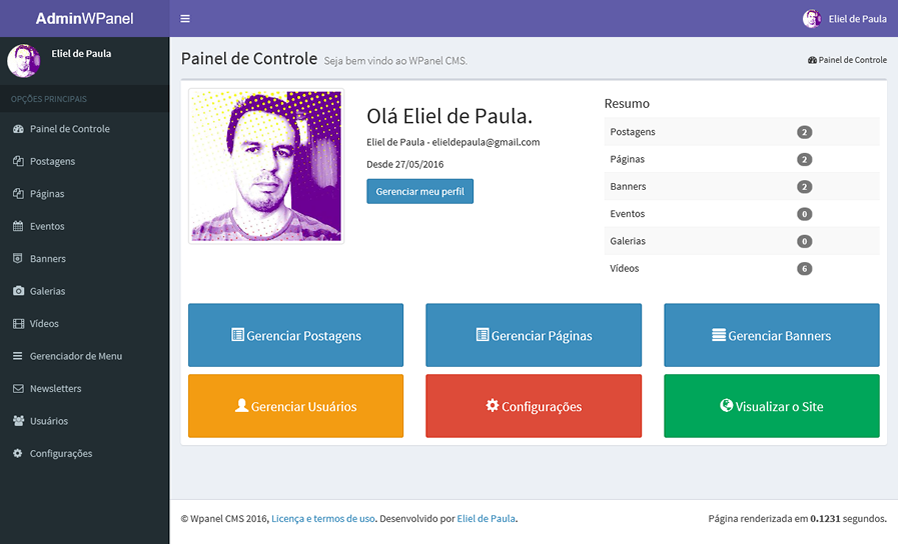 Release do Wpanel CMS 3.0.2